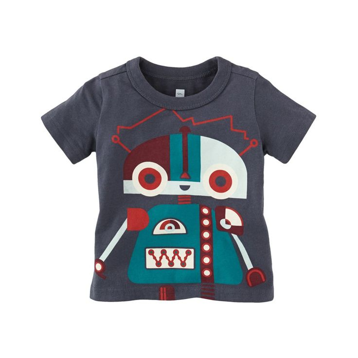 Kleiner Roboter Graphic Baby Tee | This kleiner roboter (little robot) was made for your kleiner kerl (little guy).