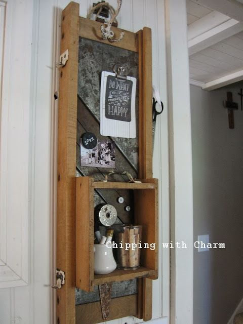 Chipping with Charm: Kraut cutter turned turned memo station...http:/...