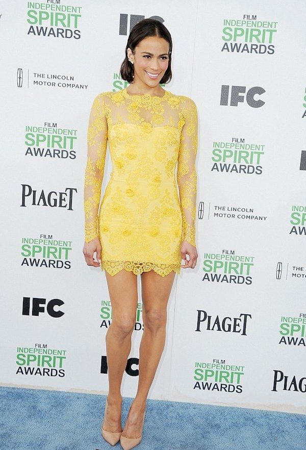 Paula Patton attends the 2014 Independ Spirit Awards in Santa Monica
