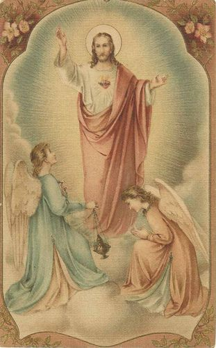 """(Prayer revealed by Our Lord to Sister Marie of St. Peter in 1843)   May the most holy, most sacred, most adorable, most incomprehensible and ineffable Name of God be forever praised, blessed, loved, adored and glorified in Heaven, on Earth, and under the Earth by all the creatures of God and by the Sacred Heart of Our Lord Jesus Christ in the Most Holy Sacrament of the Altar. Amen.  Jesus said """"This Golden Arrow will wound My Heart delightfully, and heal the wounds inflicted by blasphemy."""""""
