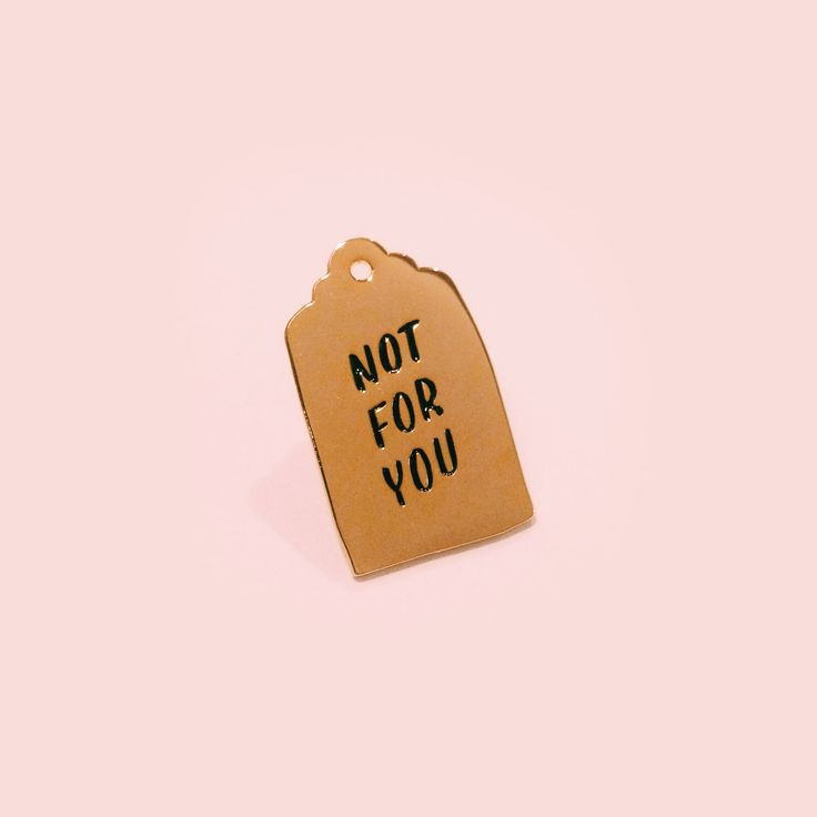 NOT FOR YOU enamel pin by eythink on Etsy https://www.etsy.com/listing/247757231/not-for-you-enamel-pin