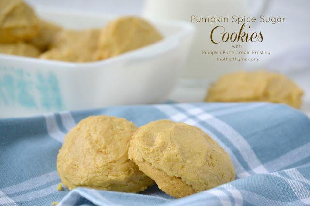 Pumpkin Spice Sugar Cookies with Pumpkin Buttercream Frosting | Mother ...