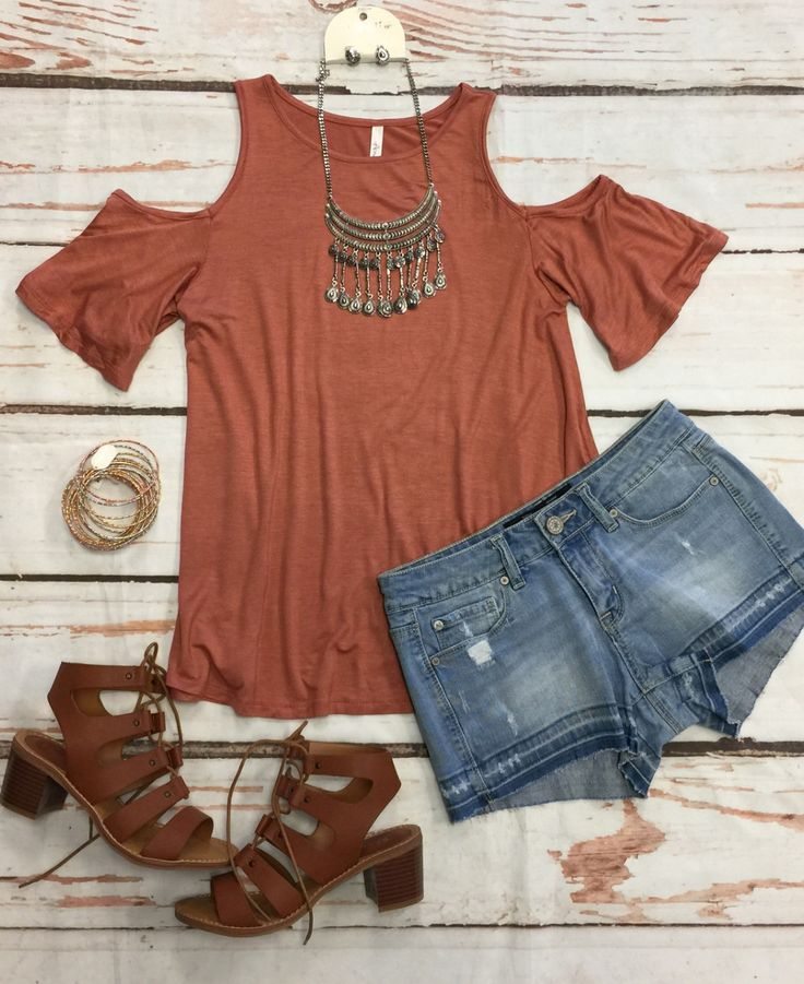 In Plain View Cold Shoulder Top from privityboutique