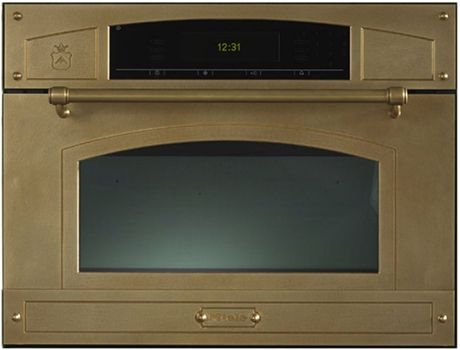 restart-built-in-microwave-oven-all-brass.jpg Retro style microwave in burnished brass.