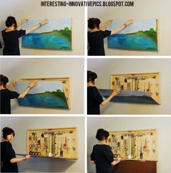 Innovative idea Jewel box in wall painting creative idea