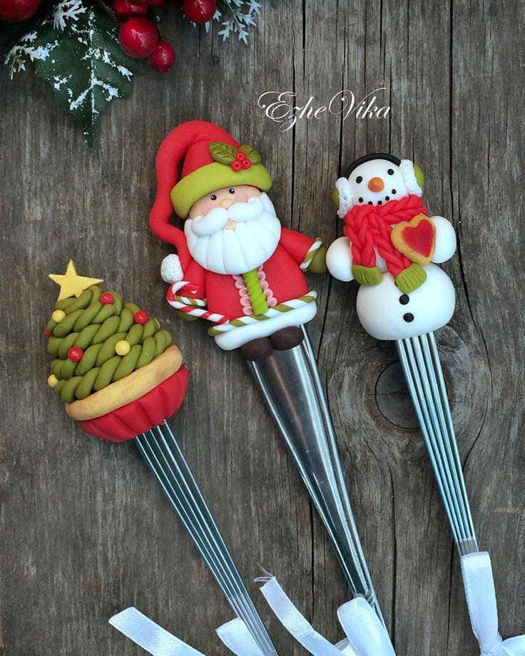 """«Новогодние """"вкусные ложки"""", снеговик - новичок, выполнен впервые…"""