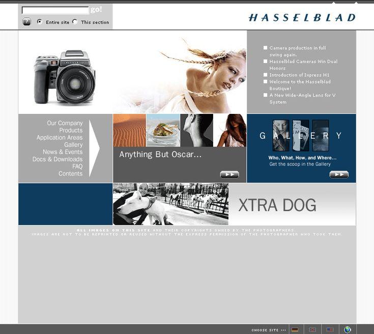 Hasselblad website in 2002