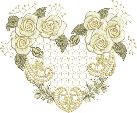 Sue Box Creations | Download Embroidery Designs | 33 - Rose Heart
