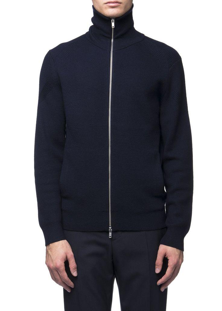 Theory - Menswear - FW16 // Navy zip cardigan in merino wool