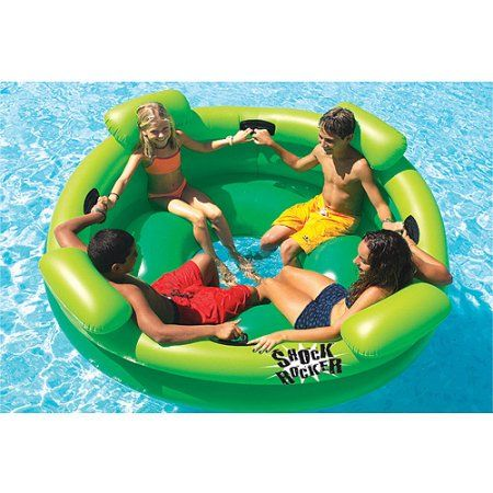 Shock Rocker Inflatable Pool Toy, Green
