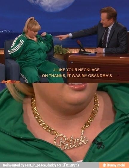 "I like your necklace.  ""Thanks, it was my grandma's."""