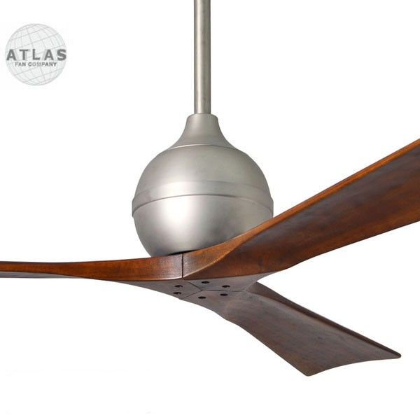 Atlas Irene-3 Ceiling Fan - Brushed Nickel 52"