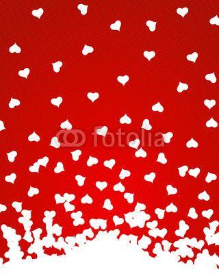 Vektor: herzen liebe valentinstag rot