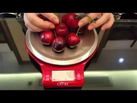 Balança Digital Camry em Aço Inox com Tara e Vasilha Para Cozinha Comida...