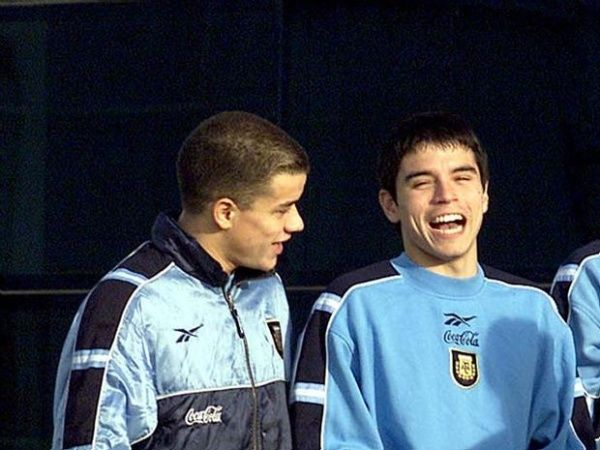 Andrés d'Alessandro + Javier Saviola.