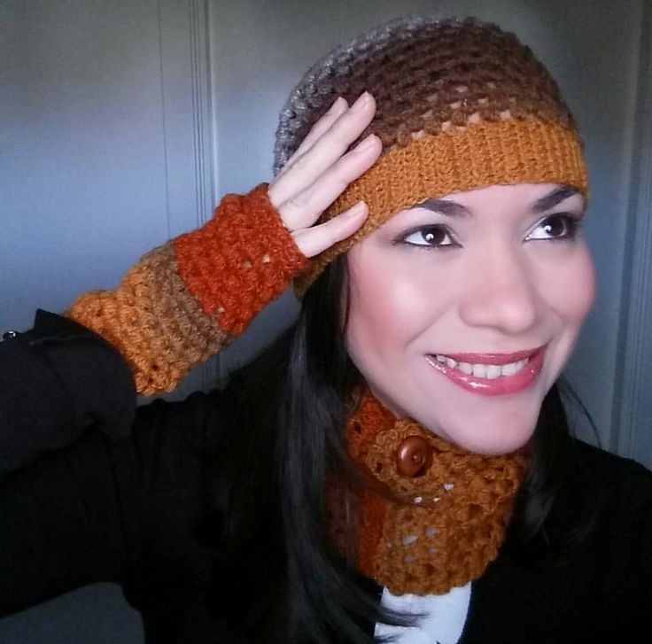 Unos colores ideales para lucir en otoño de mi creación OtysCrochet
