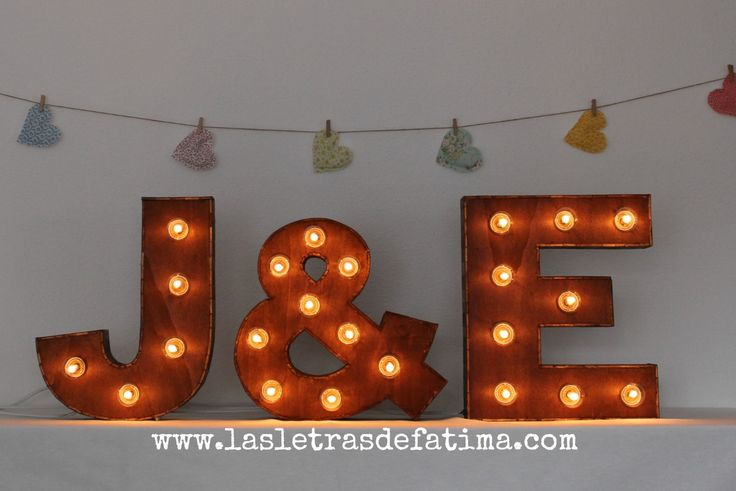 16 inches Light letter. Iluminated Letter. Wood Letter Great for any event :) de Letrasdecorativas en Etsy