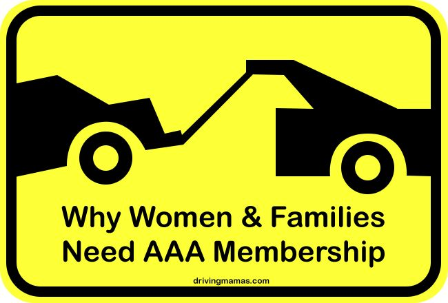 AAA Roadside Assistance - Car being towed. Why women and families need AAA membership #cars