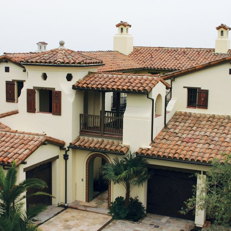 306 best mediterranean and spanish revival style images on for Spanish style roof tiles