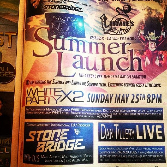 Yay, gotta love a full page in the local press. See you at Brownie's on Sunday #detroit #love #whiteparty #brownies