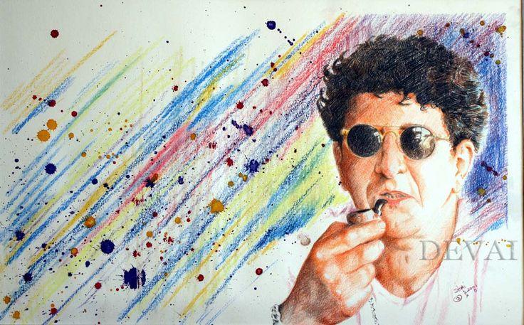 Grafik: Alex Devai Color Pencil ,aquarell Self-portrait