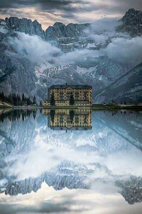 Misurina lake, Italy. Serving as Namaire insp, except not so hotel-y