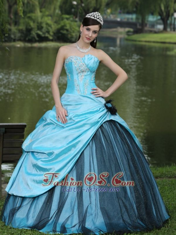 10 best images about 2013 Black and Aqua Spring Quinceanera Dress ...