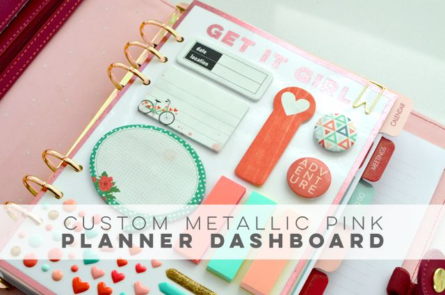 Custom Metallic Foil Planner Dashboard