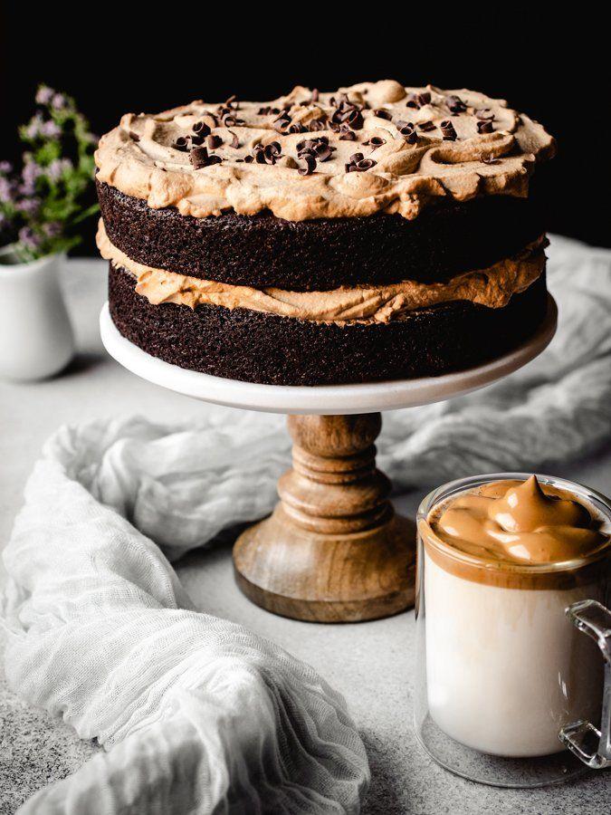 The Best Dalgona Coffee Chocolate Cake Kickass Baker Recipe In 2020 Chocolate Cake With Coffee Chocolate Coffee Baking