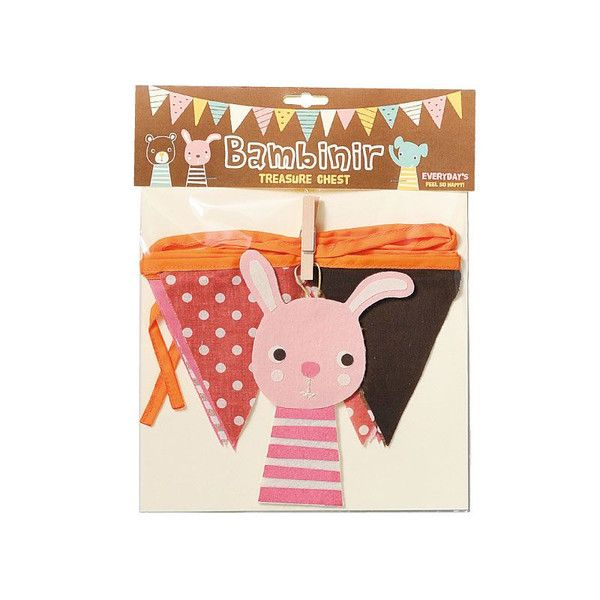 Bambinir Party Supplies Flag Banner Windows Decoration Bunting Rabbit Pink #D