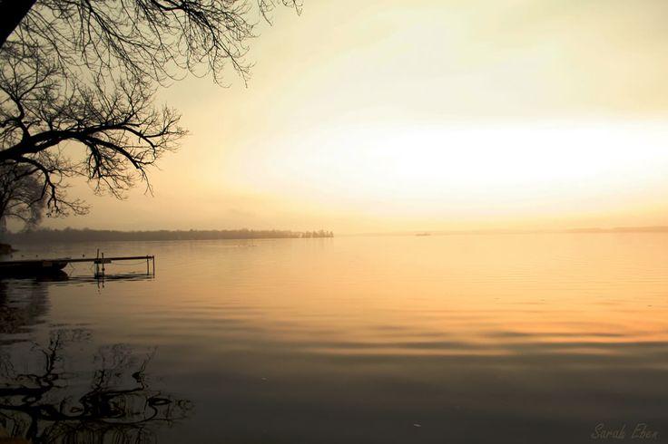 Dawn on Lake Couchiching, Orillia, Ontario, Canada.