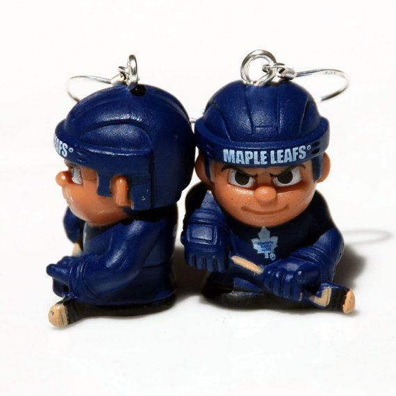 Toronto Maple Leafs Hockey Earrings by BabyRoomPrints on Etsy, $20.00