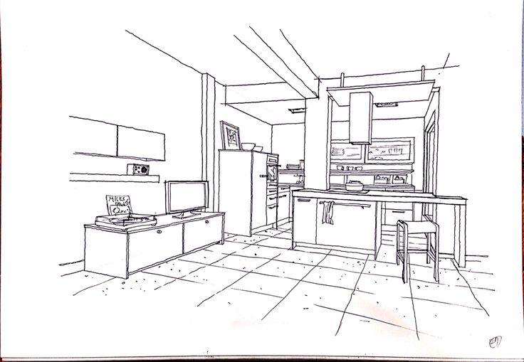 copy interior sketch