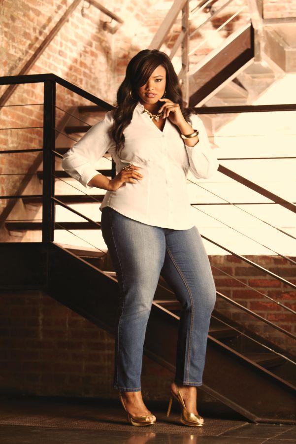 Ashley Stewart Denim Campaign 2013. Model Anita Marshall.
