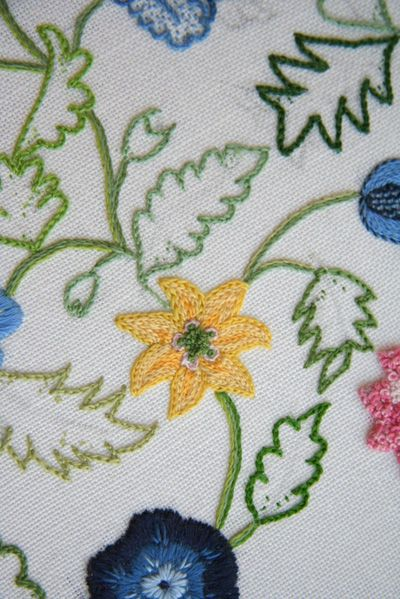 Now that I've finished outlining all of the green leaves on the...