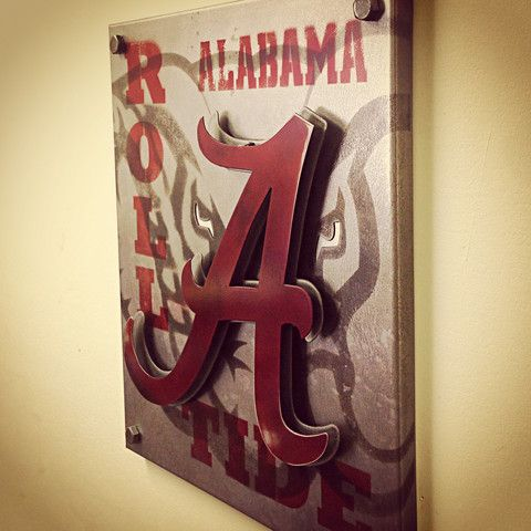 University of Alabama Roll Tide Custom Vintage Steel Artwork