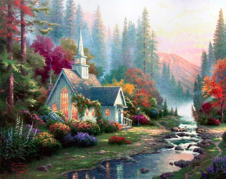 an analysis of the works of thomas kinkade an american painter Thomas kinkade: the artist in the mall  they explore his work and its impact on  contemporary art as part of the broader history of american visual culture.
