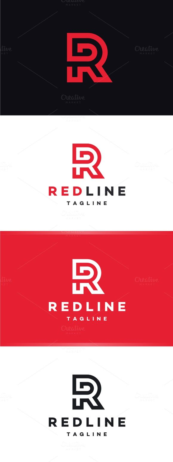 Furniture logo inspiration - Redline Letter R Logo