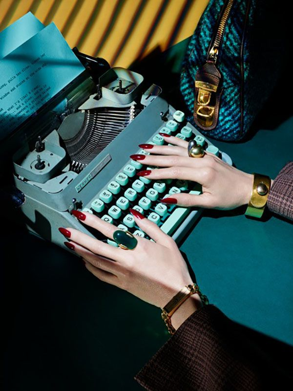 The sound of the typewriters clacking keys gives words such magnificent weight...