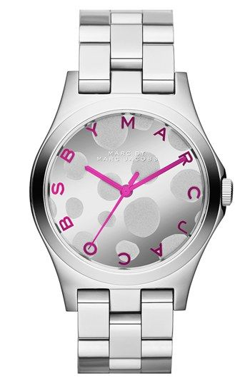 MARC BY MARC JACOBS 'Henry Glossy Pop' Bracelet Watch, 37mm available at #Nordstrom LOVE THIS!