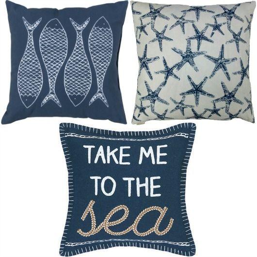 navy blue pillows