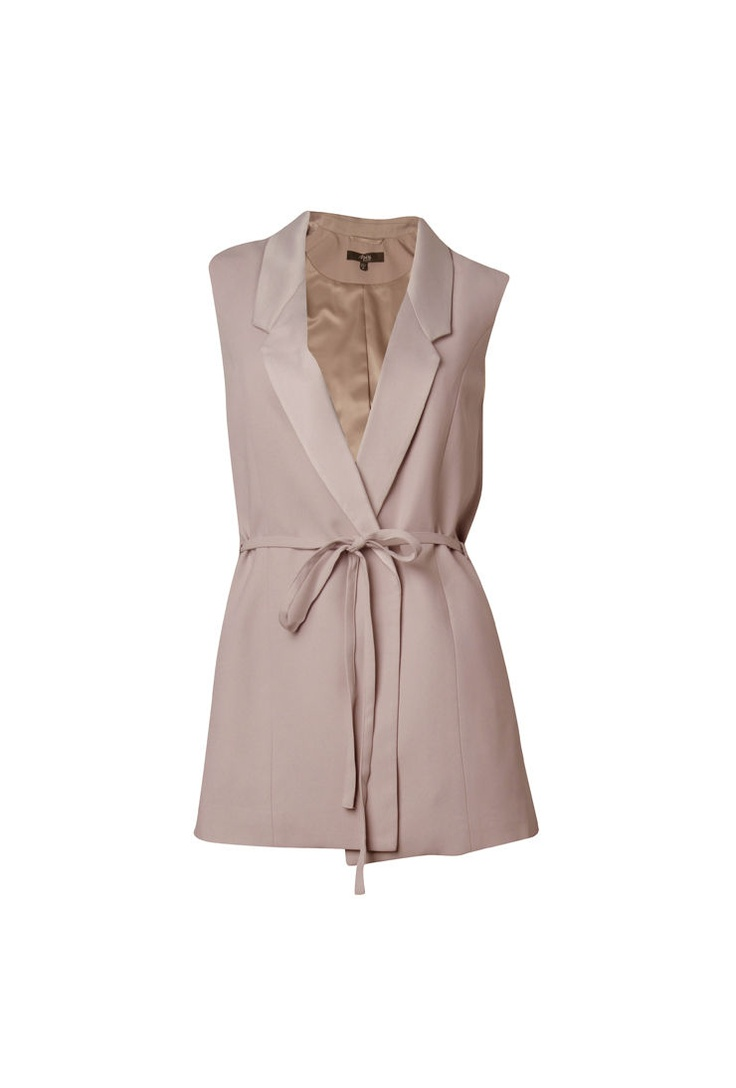 Crepe Sleeveless Jacket — Maxshop.com