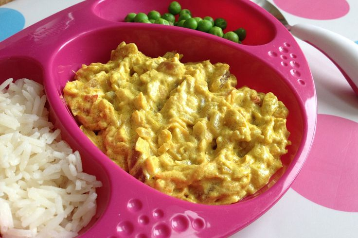 Chicken, lamb, fish and vegetarian curries suitable for babies from 7 months