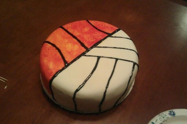 This Is What I Need I Love To Play Basketball And Volleyball Basketballplaying Volleyball Cakes Basketball Volleyball Cupcakes