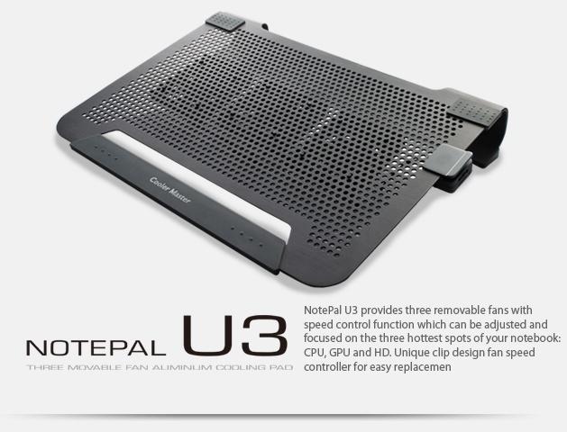 Idenya bagus  Cooler Master - Notepal U3