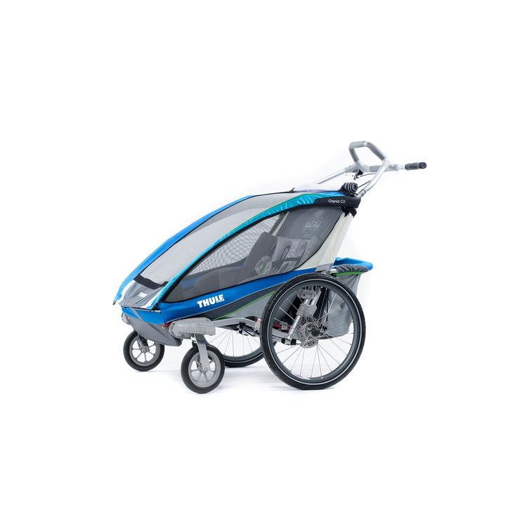 Thule Chariot CX 2 Multi-Sport Double Child Carrier & Stroller, Blue