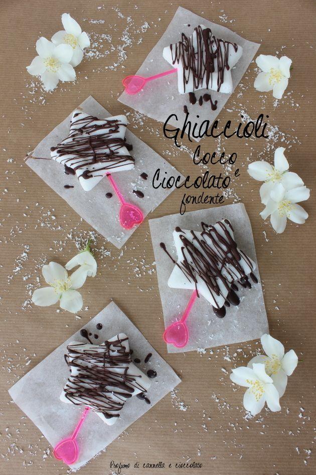ghiaccioli latte di cocco e cioccolato fondente