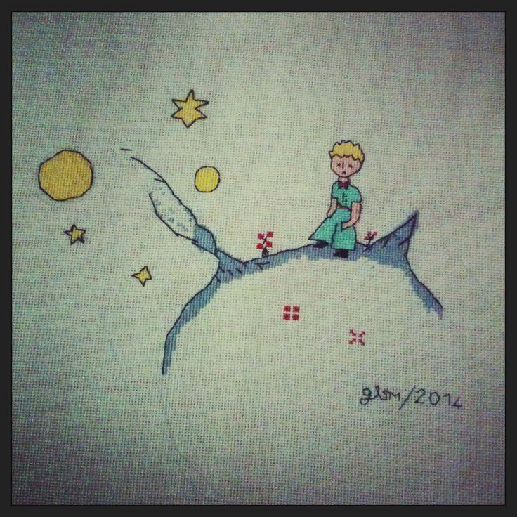 Le petit prince - the litle prince - küçük prens - cross stitch - kanaviçe