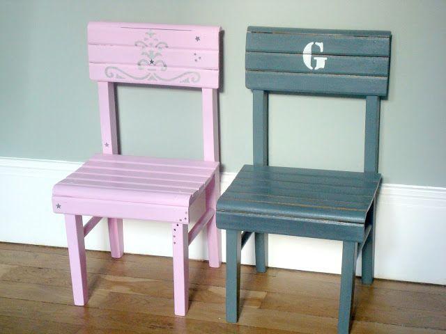 Diy customiser une petite chaise d 39 enfant trouv e en brocante avec de l - Customiser une chaise ...