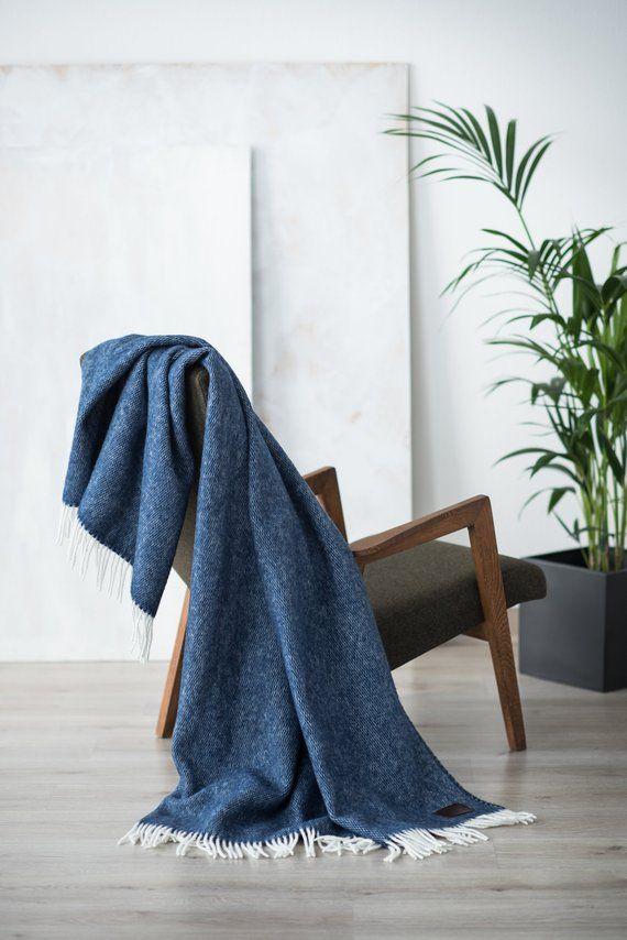 Throw Blanket Wool Sofa Throw Blue Bedding Wool Blanket Home Blankets Throws Sofa Throw Throw Blanket Blue Bedding